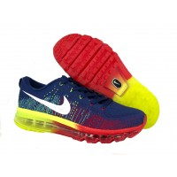 Кроссовки Nike Air Max Flyknit Blue/Red/Yellow