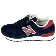 Мужские замшевые кроссовки New Balance 670 BlueRed