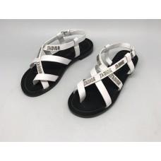 Женские кожаные сандалии Christian Dior белые