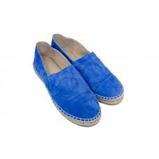 Женские брендовые замшевые эспадрильи Chanel Cruise Blue