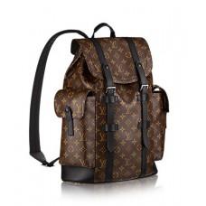 Мужской брендовый кожаный рюкзак Louis Vuitton Christopher PM Broun