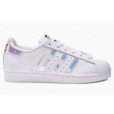 Женские летние кроссовки Adidas Superstar White/Silver
