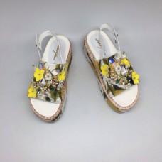 Босоножки Dolce&Gabbana Yellow/White
