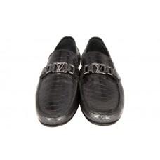 Мужские брендовые кожаные мокасины Louis Vuitton Montaigne Black