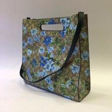 Женская летняя кожаная сумка Gucci зеленая