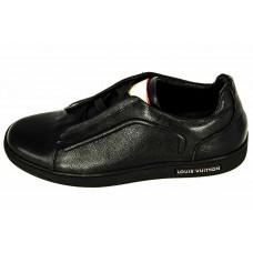 Мужские брендовые кожаные кроссовки Louis Vuitton Frontrow Sneakers Black