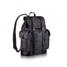 Мужской брендовый кожаный рюкзак Louis Vuitton Christopher PM Blue