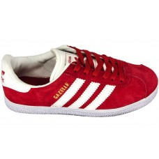 Замшевые кеды Adidas Gazelle Red