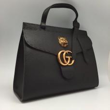 Женская сумка Gucci черная кожа