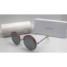 Женские солнцезащитные очки Jimmy Choo со стразами бордовые
