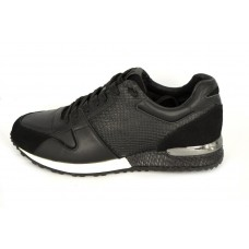 Мужские брендовые кожаные кроссовки Louis Vuitton Run Away Sneakers Black