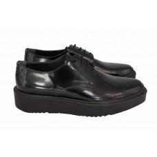Ботинки Prada Oxford Black Leather