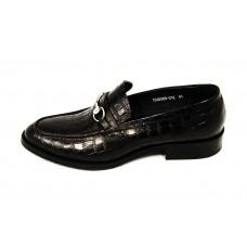 Мужские брендовые кожаные лоферы Louis Vuitton Emblem Black