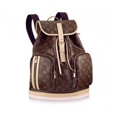 Мужской брендовый кожаный рюкзак Louis Vuitton Bosphore Broun