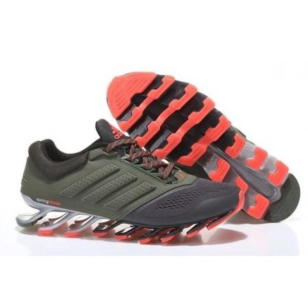 Кроссовки беговые Adidas SpringBlade Green/Red/Grey