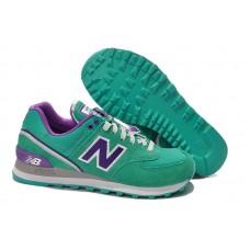 Женские летние кроссовки New Balance 574 Green/Blue/Violet