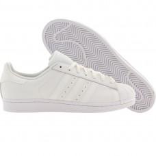 Кожаные белые кроссовки Adidas Superstar