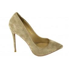 Женские замшевые туфли Christian Louboutin Pigalle Grey