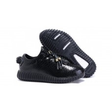 Кроссовки Adidas Yeezy Boost 350 Black Leather