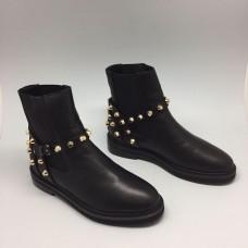 Женские кожаные сапоги Balenciaga черные