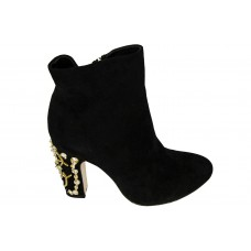 Женские ботинки Dolce & Gabbana Black Velvet