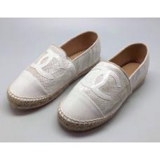 Женские белые эспадрильи Chanel Cruise White