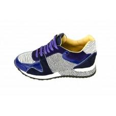 Женские брендовые кроссовки Louis Vuitton Run Away Sneakers Women BlueWhite
