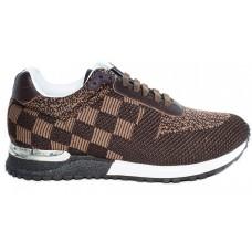 Мужские брендовые кроссовки Louis Vuitton Run Away Sneakers Broun