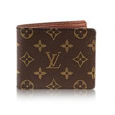 Мужское брендовое кожаное портмоне Louis Vuitton Multiple Broun