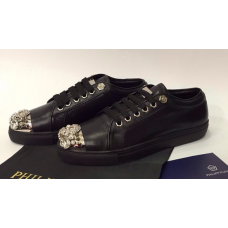 Женские кроссовки Philipp Plein Low Full Black Skull