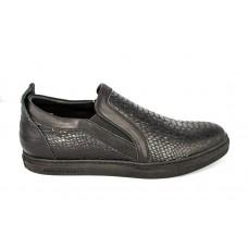 Мужские брендовые кожаные ботинки Philipp Plein Low черные