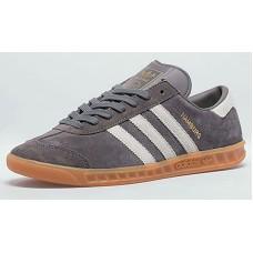 Мужские замшевые кеды Adidas Hamburg Grey