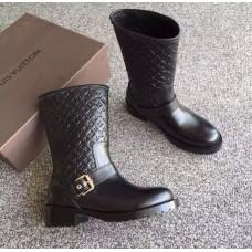 Женские брендовые черные сапоги Louis Vuitton