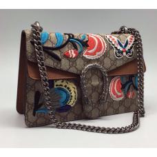Женская сумка Gucci серая с узорами