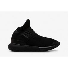Мужские высокие чнрные кроссовки Adidas Yohji Yamamoto Qasa Racer Black High
