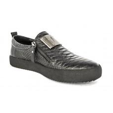 Осенние ботинки Giuzeppe Zanotti Black Monolith Alligator Skin