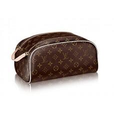 Брендовая кожаная дорожная косметичка Louis Vuitton Monogram Broun