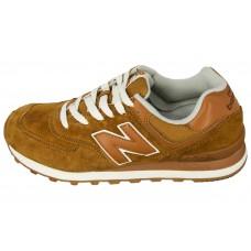 Мужские замшевые кроссовки New Balance 574 Broun